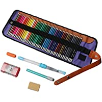 色鉛筆 水彩ペン イラスト 画材セット 塗り絵用 水性ペン 収納ケース梱包/消しゴム/鉛筆削り/水筆/延長ホルダー/矯正グリップ カラーペンセット 48色