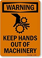 SmartSign Warning: Keep Hands Out Of Machinery with Graphic Vinyl Label 10 x 7 [並行輸入品]