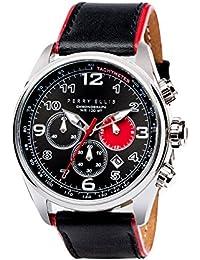 [ペリー・エリス] 腕時計 GT クォーツ 44 mmケース 本革バンド 01001-01 メンズ 正規輸入品 ベージュ