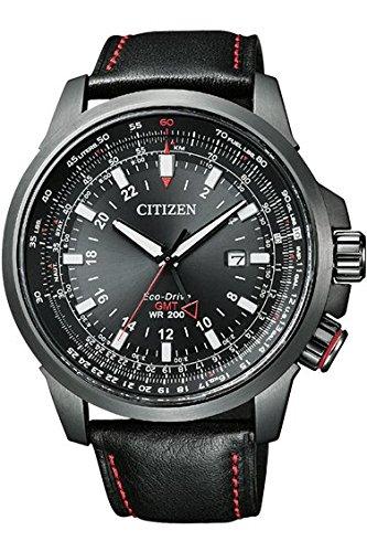 シチズン☆CITIZEN 腕時計 PROMASTER プロマスター GLOBAL SKY Eco-Drive エコ・ドライブ ワールドタイム パイロットウォッチ 多機能モデル BJ7076-00E メンズ