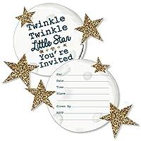 twinkle twinkle little star shaped fill in invitations baby