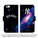 iPhoneSE 手帳型 ケース [デザイン:45.NY・アンドロメダ] ニューヨークヤンキース iphonese スマホ 手帳 カバー