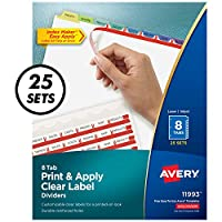 Index Maker Clear Label Contemporary Color Dividers, 8-Tab, 25 Sets/Box (並行輸入品)