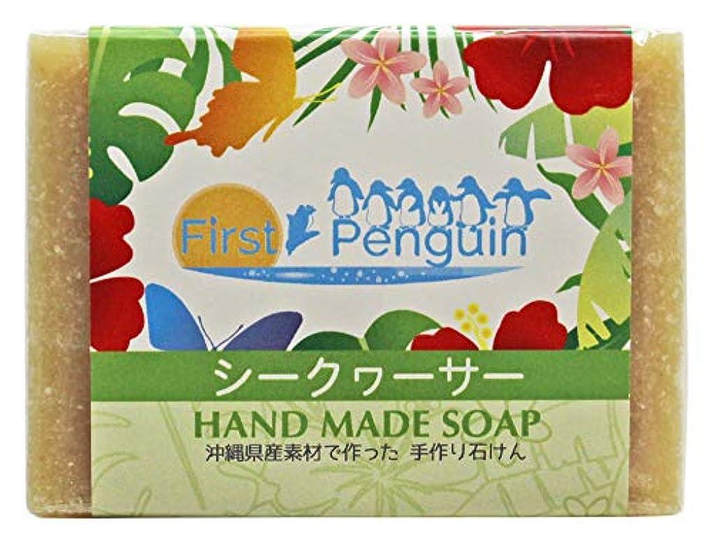 朝ごはん私たちのもの貧しい手作り洗顔石けん シークヮーサー 100g