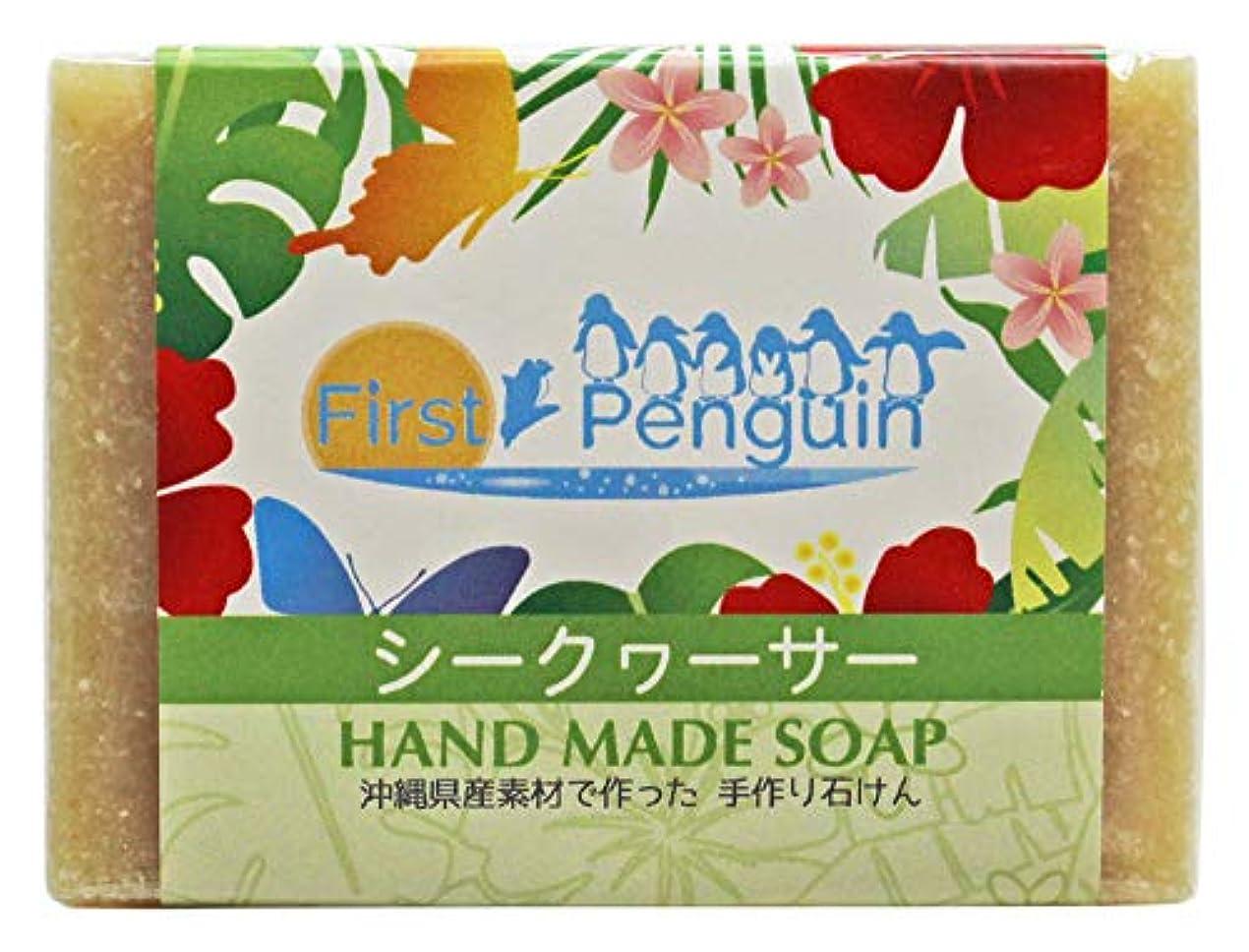 受動的安定しました必要とする手作り洗顔石けん シークヮーサー 100g