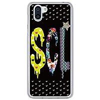 ScoLar スカラー デザイン Galaxy S7 edge SC-02H、SCV33機種専用 スマホケース 50304 カバー ハードケース Xperia Galaxy AQUOS ARROWS ハートドット SCLロゴ ブラック かわいいデザイン ファッションブランド