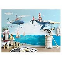 キッズ漫画壁紙ステッカー3D写真の壁紙壁画子供部屋寝室の自己接着シルクの壁紙カスタム300センチメートル(W)* 200センチメートル(H)