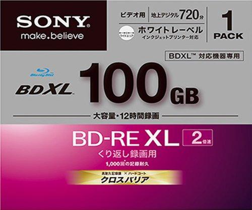 ソニー ビデオ用BD-RE XL 書換型 片面3層100GB 2倍速 プリンタブル 単品 BNE3VBPJ2