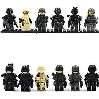 特殊部隊、軍事ミニフィギュア 武器防具付き6種セットⅡ