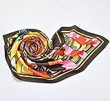 .Y 横浜 スカーフ シルク 100% 日本製 大判 正方形 ローレンシャン (メープルレッド)