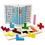 木製 知育 玩具 テトリス パズル ゲーム おもちゃ 積み木 型はめ 形合わせ 教育
