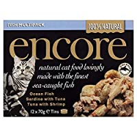 [Encore] アンコールキャットフード魚の選択缶12X70G - Encore Cat Food Fish Selection Tins 12X70g [並行輸入品]