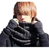 [meryueru(メリュエル)] カジュアル スヌード ユッタリ オシャレ 秋冬 シンプル 4色 ベーシック カラー メンズ