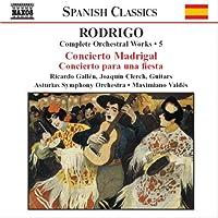 ロドリーゴ:管弦楽作品全集 5 「マドリガル協奏曲」/「ある宴のための協奏曲」