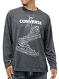 (コンバース) CONVERSE 大きいサイズ Tシャツ メンズ ブランド 長袖 ロンT ロゴ 2color LL チャコール