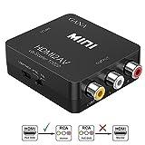 HDMIをコンポジットへ変換、GANA HDMI to AV変換アダプタ 1080P対応 HDMI入力をコンポジット出力へ変換コンバーター USB電源供給