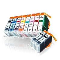 BCI-6/8MP + BCI-6BK×2 お得な10本セット(BCI-6BK×3 BCI-6C×1 BCI-6M×1 BCI-6Y×1 BCI-6PC×1 BCI-6PM×1 BCI-6R×1 BCI-6G×1) キヤノン用互換インクカートリッジ ICチップ付 残量表示機能付 (BCI-6/6MP BCI-6/7MP BCI-6 PIXUS 9900i)