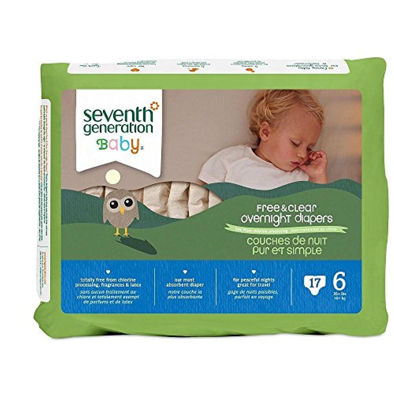 履歴書鋼違うSeventh Generation Overnight Diapers - Size 6 - 17 ct by Seventh Generation
