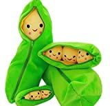 Best YOUR SMILE枕 - ( biguddo ) Bigoodキュートぬいぐるみ枕Your Beans 3兄弟Pea Stuffed人形Toy内部ふわふわスマイル枕カバーおもちゃ60cm Review