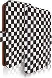 KEIO ケイオー URBANO V01 カバー 手帳型 チェック チェック柄 URBANOV01 手帳 おしゃれ お洒落 URBANO ケース V01 ケース チェック柄 白黒 アルバーノ 手帳型ケース ittnチェック柄白黒t0312