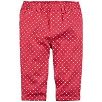 Carter's Baby Girls' Pull On Polka Dot Twill Pants