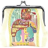がま口 財布 口金 小銭入れ ポーチ 体 仕事 順調 Jiemeil バッグ かわいい 高級レザー レディース プレゼント ほど良いサイズ