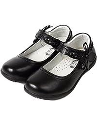 [ミウォルナ] キッズシューズ フォーマル シューズ 靴 パンプス 子供 女の子 卒園式 卒業式 入園式 入学式 通学 通園 冠婚葬祭 発表会 ブラック 黒