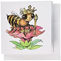 昆虫 – Bee The Queen – グリーティングカード Set of 6 Greeting Cards