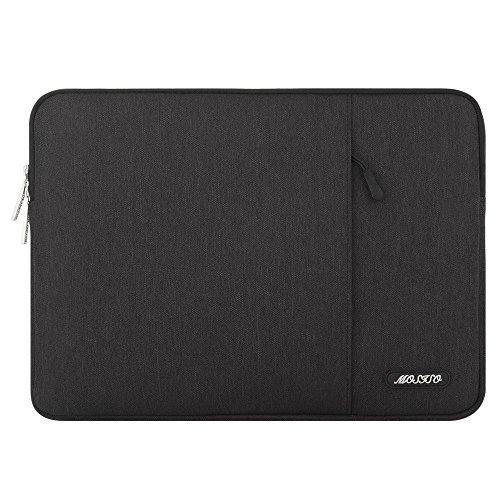 Mosiso ラップトップ 耐衝撃 スリーブケース 撥水 ポリエステル 保護 インナーケース 9.7-11インチ iPad Pro、iPad Air 10.5 2019、Surface Go 2018、iPad Air 2/Air (iPad 6/5)、iPad 1/2/3/4用 ポケット付き(ブラック)
