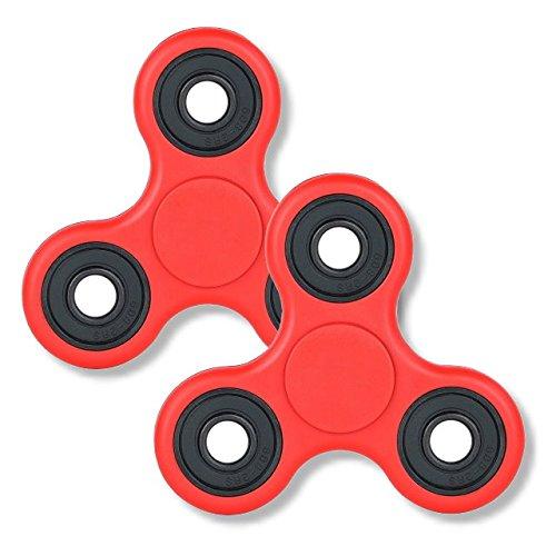 2個セットハンドスピナー NEW レッド Fidget Hand Spinner 指スピナー ボールベアリング フォーカス玩具 子供大人に適用 ストレス解消 ロワジャパン