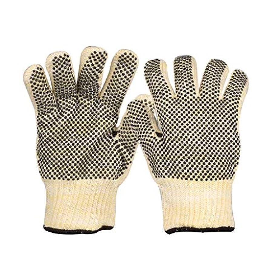 待つ鳴らす一時解雇するLIUXIN 高温耐性手袋両面シリコーンビーズ絶縁耐摩耗性通気性滑り止め手袋左右の手を区別しないでください12 * 27 CM ゴム手袋