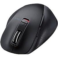 エレコム ワイヤレスマウス Bluetooth 5ボタン BlueLED Mサイズ 握りの極み ブラック M-XGM10BBBK