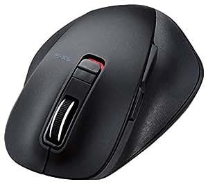 ELECOM BlueLED ワイヤレスマウス 握りの極み Mサイズ 静音ボタン Bluetooth 5ボタン ブラック M-XGM10BBSBK