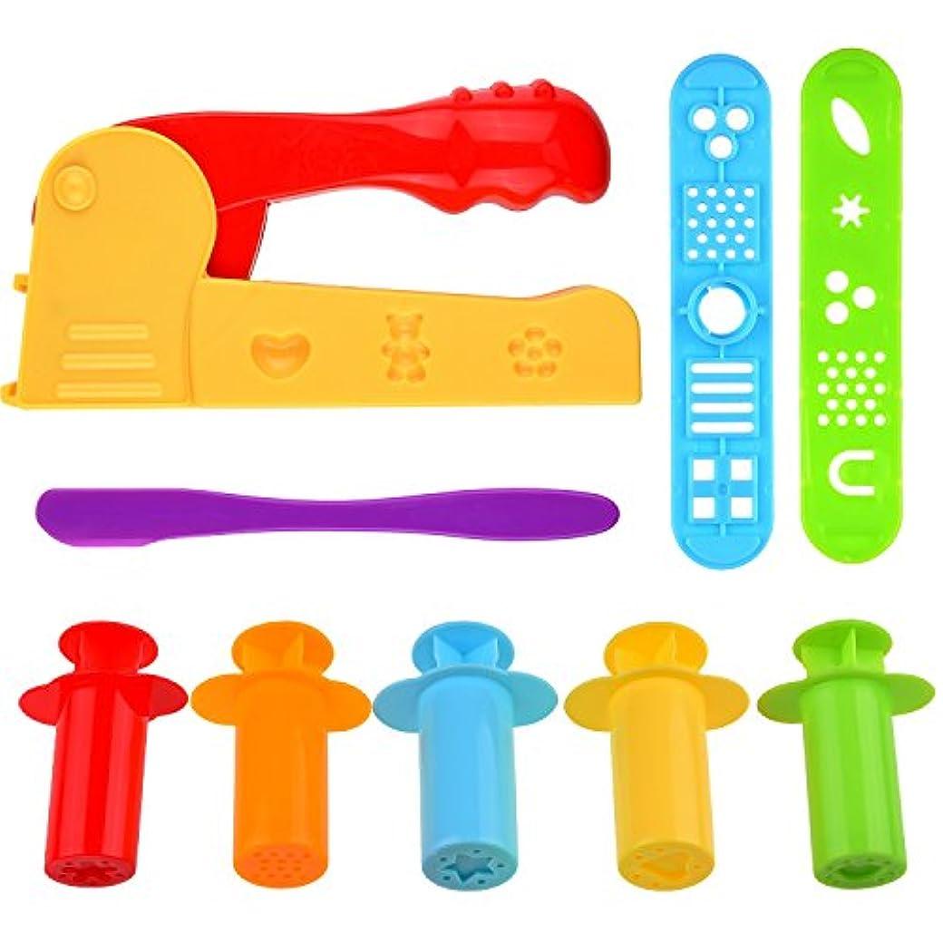 Kare & Kind スマート粘土ツールキット 押出機/押出機ツール付き 9個セット (押出機+押出機ツール)