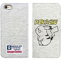 グルマンディーズ ポケットモンスター iPhone6対応 スウェットフリップケース ピカチュウ POKE-529A