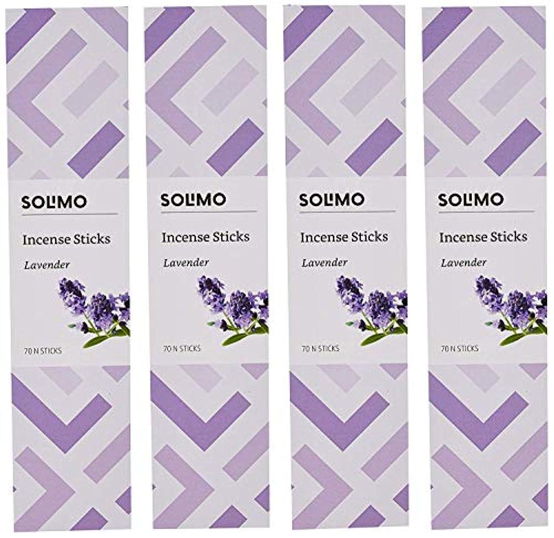 注ぎますリーンマーガレットミッチェルAmazon Brand - Solimo Incense Sticks, Lavender - 70 sticks/pack (Pack of 4)