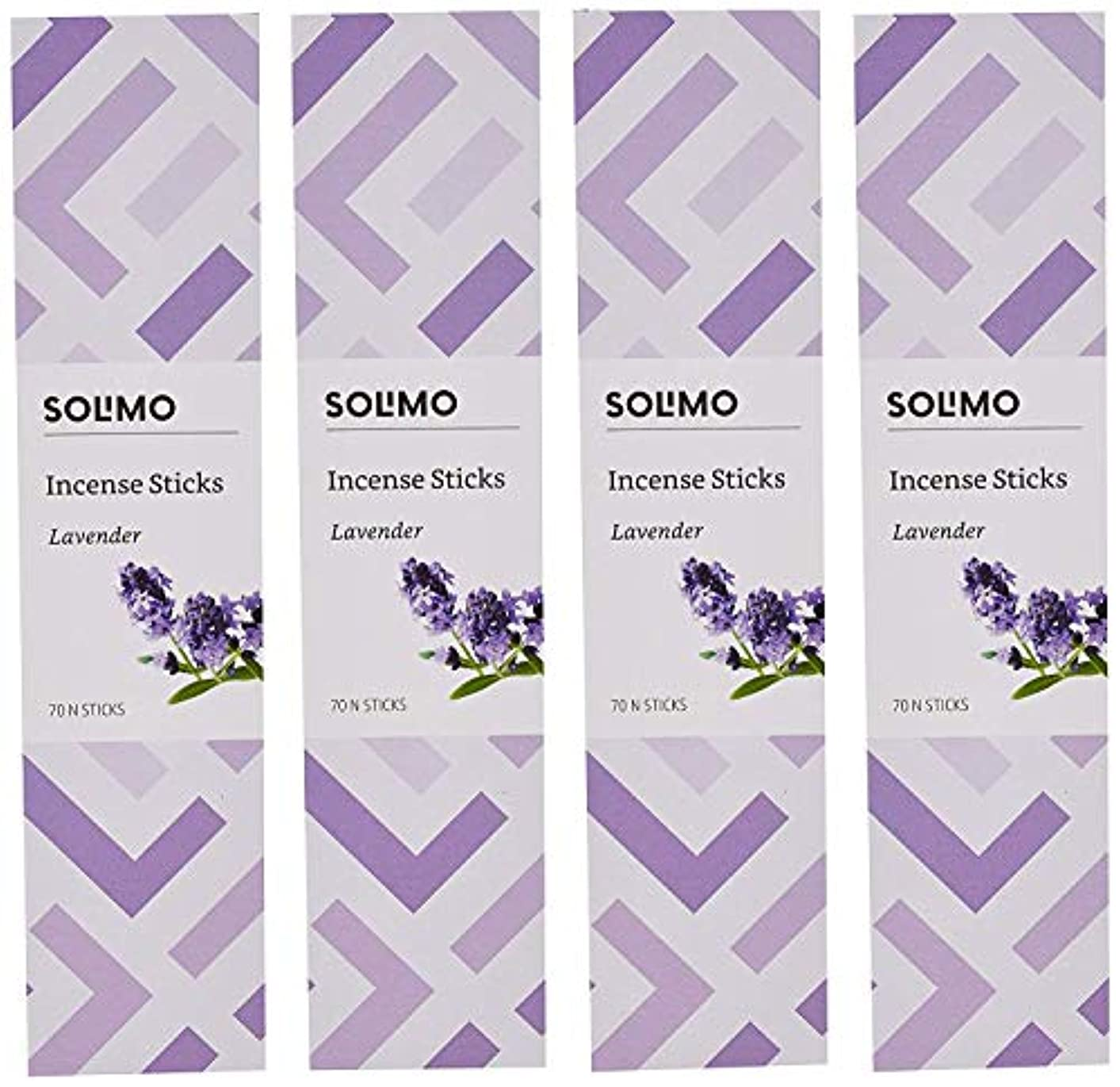 聴覚障害者会話仕事に行くAmazon Brand - Solimo Incense Sticks, Lavender - 70 sticks/pack (Pack of 4)