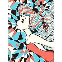 hongyun 5D DIYダイヤモンドの絵画 クロスステッチキット 屋内家庭やレストラン ホームレストラン 装飾 プレゼント フルダイヤモンド セーリング 綺麗 40*30cm 18# 自信を持っている女の子