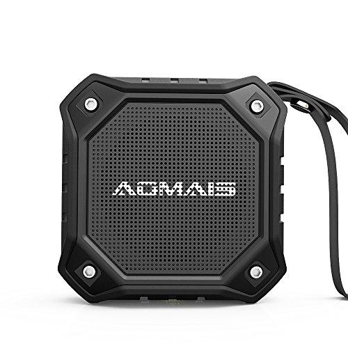 AOMAIS OUTDOOR Bluetooth スピーカー IPX7防水 10時間 /マイク搭載 / ワイヤレス ブルートゥース 黒