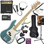 FENDER エレキベース 初心者 入門 メキシコ製 重々しく唸るサウンドのプレシジョンベース 10wアンプが入ったスタンダード15点セット Player Precision Bass/TPL/M(タイドプール/メイプル指板)