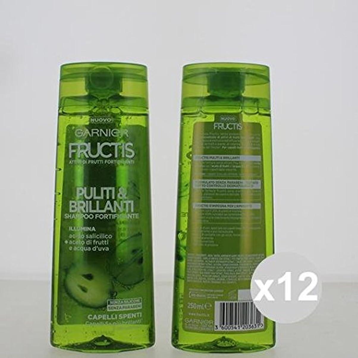 瞳平衡香ばしい12 Fructisシャンプー250クリーン&ブライトシャンプーとコンディショナーヘア製品のセット