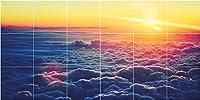 """セラミックタイルmural-sky Clouds Photoバスルームシャワータイル壁画1445。 72""""W x 36""""H マルチカラー PTAZ30426-12x12cs"""