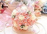 CTV(シーティーブイショップ) ウエディング ブーケ バラ 造花 披露宴 結婚式 の 前撮り に 2点 セット