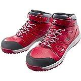 ミズノ 安全靴 (MIZUNO)オールマイティミッドカット C1GA1702 62レッド 27.0cm