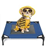 Amorus ドッグメッシュベッド ペットコット 犬ベッド ワンチャンベッド ペットベッド  ベッド クッション キャンプ用 折り畳み式 猫/犬 ポータブル 組み立てる簡単