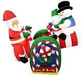 【クリスマスエアブロウ】シーソー サンタ&スノーマン  / お楽しみグッズ(紙風船)付きセット