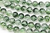 【 福縁閣 】◆グリーンクラック(ガーデンクォーツ調)◆12mm◆1連(約38cm)_R1773-12/A7-6 天然石 パワーストーン ビーズ