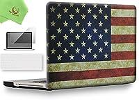 """ueswill 3in1Smooth柔らかい手触りマットつや消しハードシェルケースwithシリコンキーボード+スクリーンプロテクターカバーfor MacBook Pro +マイクロファイバークリーニングクロス MacBook Pro 15"""" (CD-ROM Drive) UES04F15P3-25"""