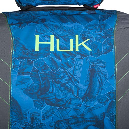 Huk Fishin Seat Cover, Unisex-Adult, Seat Cover, C000112140199, Blue Freshwater Cell, Single