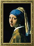 トライエックス アートフレーム/静物 ゴールド フレーム付き ポスター 真珠の耳飾りの少女 フェルメール ゴールドフレーム TXA-011G